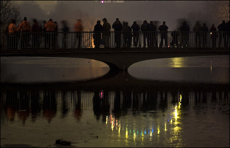 People in St James's Park watching the fireworks [Pic: Tony Killen]
