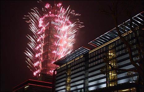 Fireworks in Taipei [Pic: Sun Bess]
