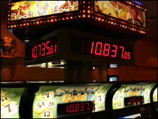Gaming machines at a Bolivian casino