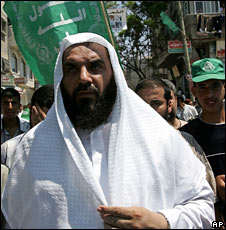 Nizar Rayyan, at a protest in the Jabaliya refugee camp on 5 August 2005