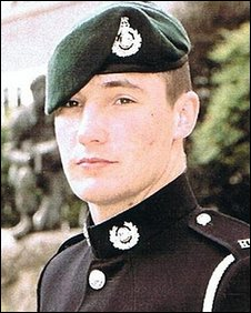 Corporal Liam Elms at his passing out parade