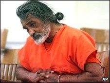 Robert Aragon appears in court in Shoshone, Idaho, 29 December 2008