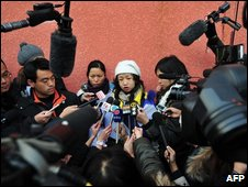 Jiang Yalin, speaking to reporters on a Beijing street, 2nd Jan