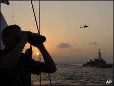 French navy on patrol in Gulf of Aden on 4 December 2008