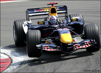 David Coulthard in action at the 2006 European Grand Prix at the Nurburgring