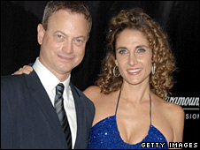 Gary Sinise and Melina Kanakaredes from CSI: New York