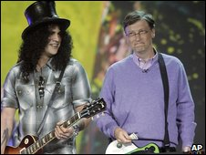 Bill Gates and Slash, AP