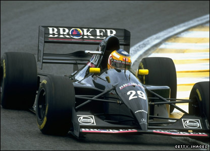 Karl Wendlinger drives for Sauber in the 1994 Brazilian Grand Prix