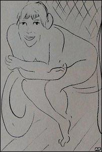 """""""Desnudo en una Mecedora"""" de Matisse"""