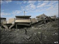 القصف أدى إلى تدمير المدرسة الأمريكية في بيت لاهيا
