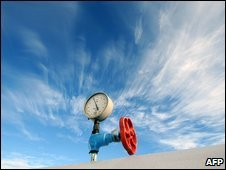 Pressure gauge on gas-compressor station in Ukraine - photo 2 January