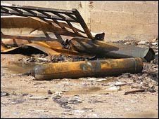 Picture of gas cylinders taken by B'Tselem fieldworker