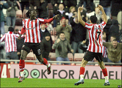 Sunderland's Kenwyne Jones celebrates
