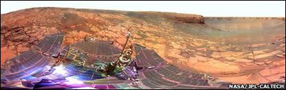 Vista panorámica de Marte (NASA)