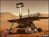 Dibujo del vehículo explorador de la superficie marciana (NASA)