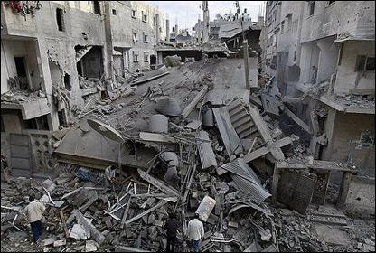 Destrucci�n en Gaza
