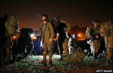 Israeli troops prepare to enter Gaza, 3 January 2009