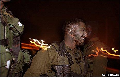 Israeli soldiers, 3 January 2009