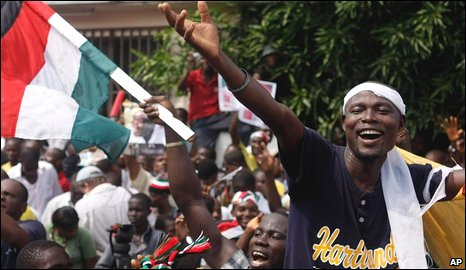 Ghanaians celebrate election outcome