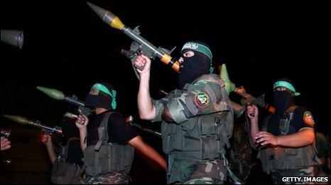 Members of Hamas military wing