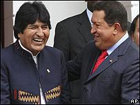 Evo Morales, Hugo Ch�vez
