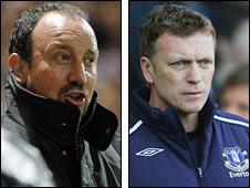 Rafa Benitez (left) and David Moyes will meet in the fourth round