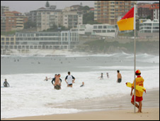 Lifesaver at Bondi Beach, Sydney