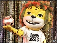 Zakumi, the official mascot of the 2010 FIFA World Cup (archive picture)