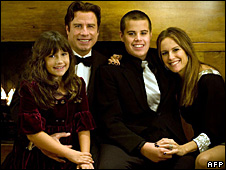 Ella Blue Travolta, John Travolta, Jett Travolta and Kelly Preston