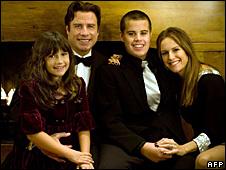 Ella Blue Travolta, John Travolta, Jett Travolta and Kelly Preston