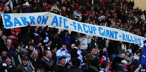 Barrow AFC fans