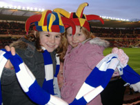Barrow fans Heather and Emily Porter