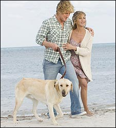 Marley and Me stars Jennifer Aniston and Owen Wilson