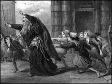 Shylock After the Trial, by Sir John Gilbert (pre 1873)