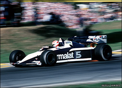 Nelson Piquet drivers for Brabham at the 1983 British Grand Prix