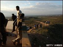 La localidad de Sderot, en la frontera entre Israel y la Franja de Gaza.