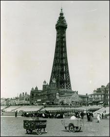 Blackpool beach and tower
