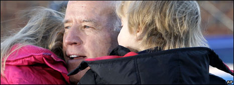 Senator Joe Biden and his grandchildren