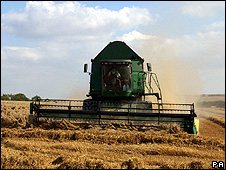 Combine harvester (Image: PA)