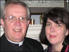 Canon Gregory Cameron and his wife Clare