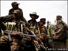 CNDP forces in Rutshuru (3 November 2008)