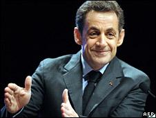 French President Nicolas Sarkozy (file image)