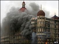 Uno de los hoteles atacados