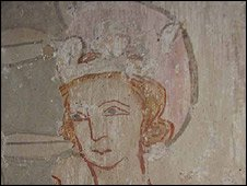 Wall painting of King Edmund