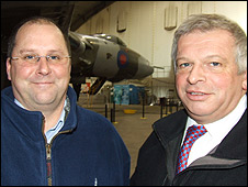 Andrew Edmonson (l) and Dr Robert Pleming