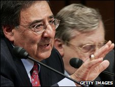 Leon Panetta serving on the Iraq Study Group in a file photo from 2006