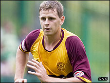 Motherwell striker Chris Porter