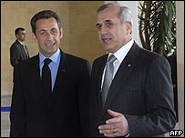 سليمان يستقبل ساركوزي في بيروت