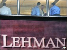 Lehman Brothers was one of the many casualties - pic AP