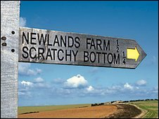 Scratchy Bottom sign